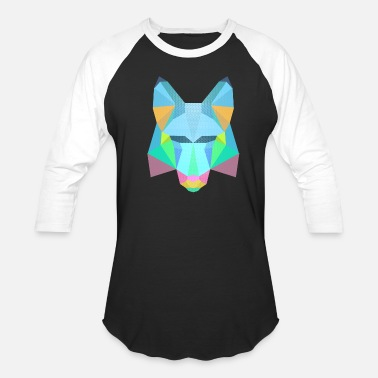 Colorful Colorful fox - Unisex Baseball T-Shirt