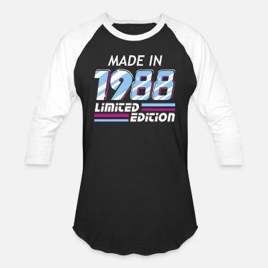 30 Made in 1988 Limited Edition - Baseball T-Shirt