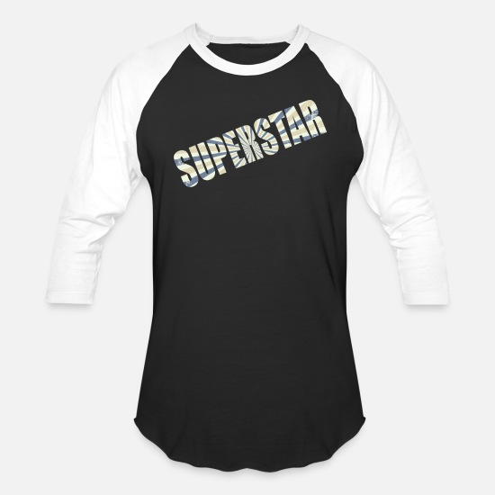 New T-Shirts - superstar - Unisex Baseball T-Shirt black/white