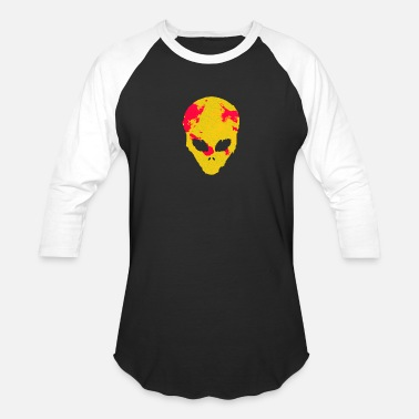 Scifi Alien face UFO space science space - Unisex Baseball T-Shirt