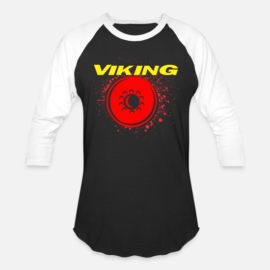 Alcohol T-Shirts - Viking Middle Ages Gift Idea - Unisex Baseball T-Shirt black/white