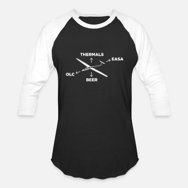 Glider gliding thermals | glider pilot gifts - Unisex Baseball T-Shirt