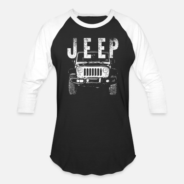 Dirty JEEP wrangler offroad 4x4 badass racing mechanic - Unisex Baseball T-Shirt