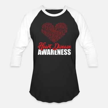 Heart Heart Disease Awareness Raise Awareness And Share - Unisex Baseball T-Shirt