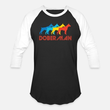 Doberman Doberman Pop Art - Baseball T-Shirt