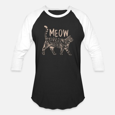 Tabby Cats Animal Pet Owner Cat Breed Meow Funny Gift - Unisex Baseball T-Shirt