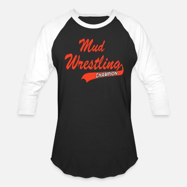 Grappling Mud Wrestling Champion - Unisex Baseball T-Shirt