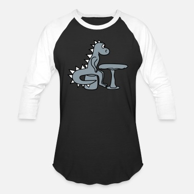 Waiting table eat hunger wait sitting chair big comic cart - Unisex Baseball T-Shirt
