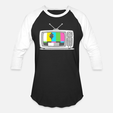 Watch Tv Watching TV - Unisex Baseball T-Shirt