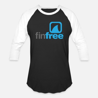 Free FinFree™_LOGO_OFFICIAL_hires.png - Unisex Baseball T-Shirt