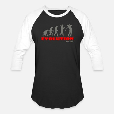 Golfer Golfer Golf ape of Evolution - Unisex Baseball T-Shirt