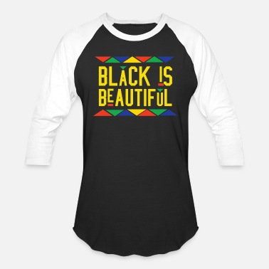 People Black Is Beautiful (Yellow Letters) - Unisex Baseball T-Shirt