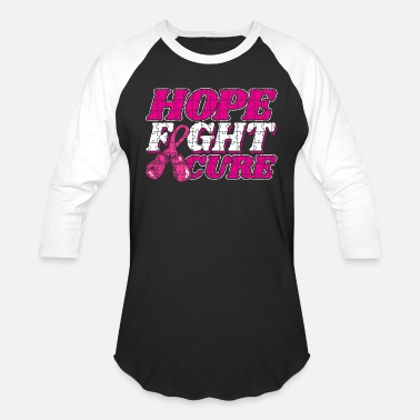 Cure Breast Cancer Awareness Hope Fight Cure Women's - Baseball T-Shirt