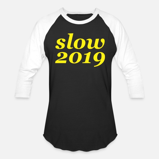 Man T-Shirts - slow - Unisex Baseball T-Shirt black/white