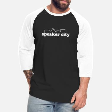 Speaker Speaker City - Old School - Unisex Baseball T-Shirt