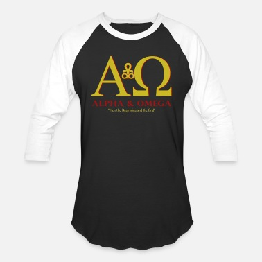 Alpha Alpha and Omega - Unisex Baseball T-Shirt