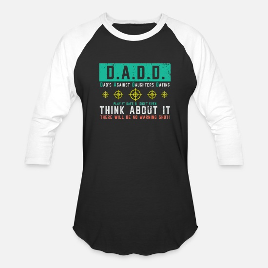 Love T-Shirts - Dad´s Against Daughters Dating gift idea - Unisex Baseball T-Shirt black/white