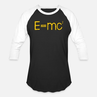 E=mc² - Albert Einstein - maths - mathematics - ma - Unisex Baseball T-Shirt