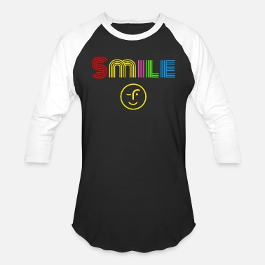 Smile (Because You're Beautiful) - Unisex Baseball T-Shirt