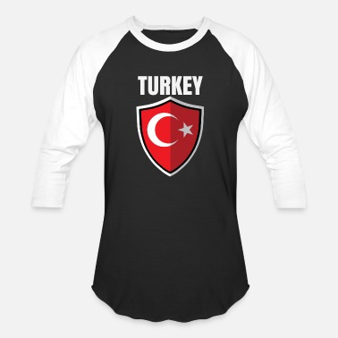 Turkey Flag Turkey - Baseball T-Shirt