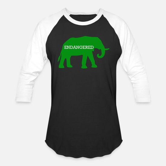 Save T-Shirts - Endangered Elephant - Unisex Baseball T-Shirt black/white