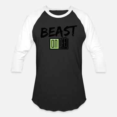Monster beast monster bodybuilder strong fighter fitn - Unisex Baseball T-Shirt