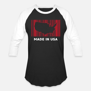 American Barcode Made in the USA - Baseball T-Shirt