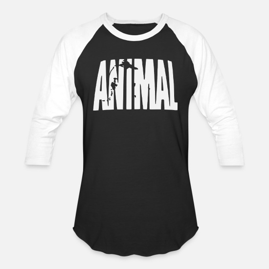 Animals T-Shirts - Animal - Unisex Baseball T-Shirt black/white
