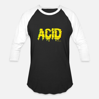ACID - Techno House music T Shirt by Yoodza - Unisex Baseball T-Shirt