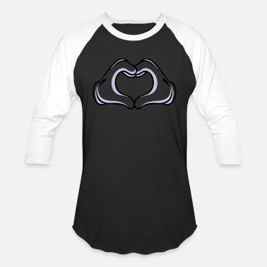 Mickey Heart Hands heart hand with - Unisex Baseball T-Shirt