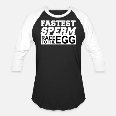 Sperm Egg fastest sperm egg race - Unisex Baseball T-Shirt