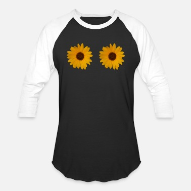 sun flowers are watching you - Unisex Baseball T-Shirt