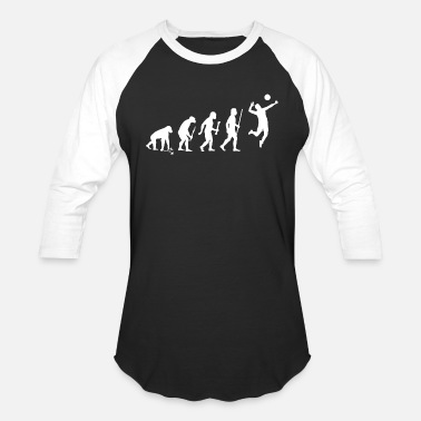 Volleyball Jokes Volleyball - Volleyball Evolution - Baseball T-Shirt
