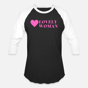 Woman Love lovely woman - Unisex Baseball T-Shirt