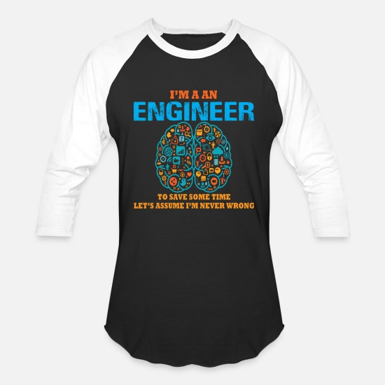Android T-Shirts - i m engineer - Unisex Baseball T-Shirt black/white