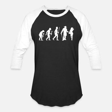 Miscellaneous Pimping - Evolution of Man and Pimping - Unisex Baseball T-Shirt