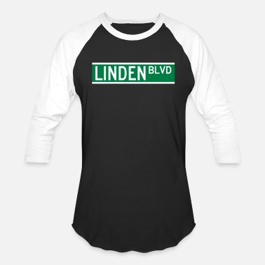 Linden LINDEN BLVD SIGN - Unisex Baseball T-Shirt