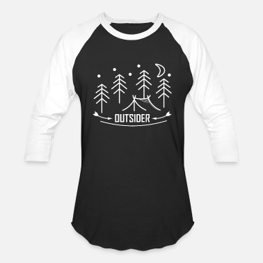 Nature Lovers Outsider - Outdoor - Nature Lover - Camping - Unisex Baseball T-Shirt