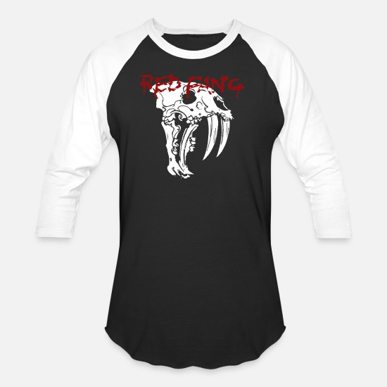 Red T-Shirts - Red Fang - Unisex Baseball T-Shirt black/white