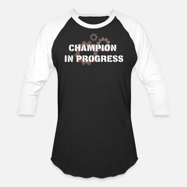 Progressive Kids Champion in progress! - Unisex Baseball T-Shirt