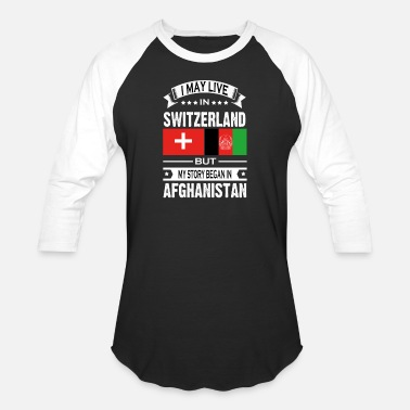 Afg Switzerland and Afghanistan - Baseball T-Shirt