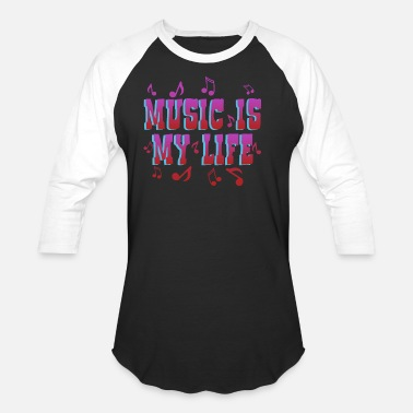 Life Force Music is Life life force, love, typography - Unisex Baseball T-Shirt