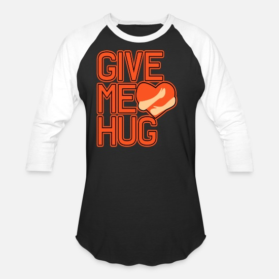 Mickey T-Shirts - Give me hug Love, Heart, Wedding, Party, awesome - Unisex Baseball T-Shirt black/white