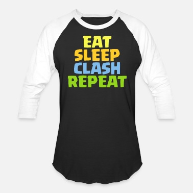 Clash Of Clans Eat Sleep Clash Repeat Funny Gift - Baseball T-Shirt