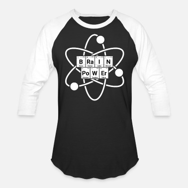 Atomic-power Brain Power Atom Chemistry - Unisex Baseball T-Shirt