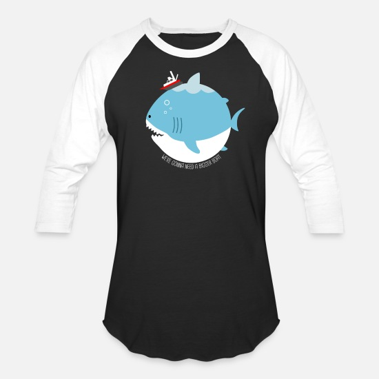 Shark T-Shirts - JAWS - Unisex Baseball T-Shirt black/white