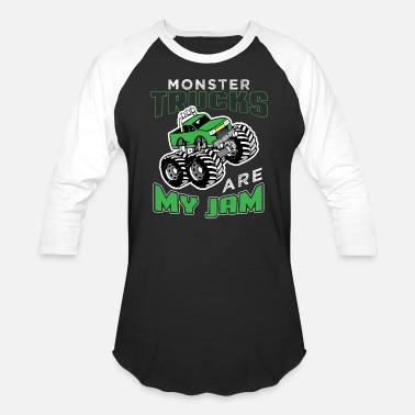 Monster Monster Truck - Unisex Baseball T-Shirt