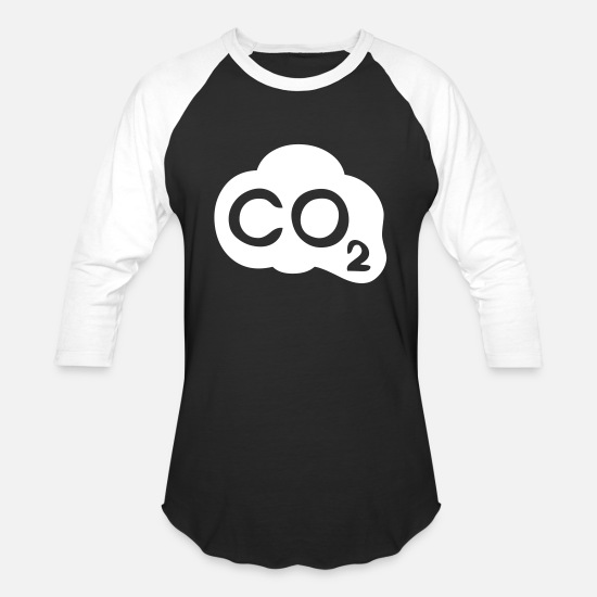 Enviromental T-Shirts - Carbon Emissions - Unisex Baseball T-Shirt black/white