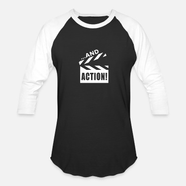 And Action Theatre - Funny Acting Rehearsal - Unisex Baseball T-Shirt