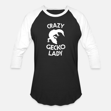 Crazy Reptile Lady Crazy Gecko Lady Cute Reptile Woman Girl - Baseball T-Shirt